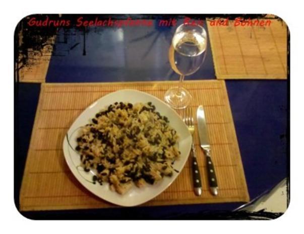 Fisch: Seelachspfanne mit Reis und Bohnen - Rezept - Bild Nr. 9