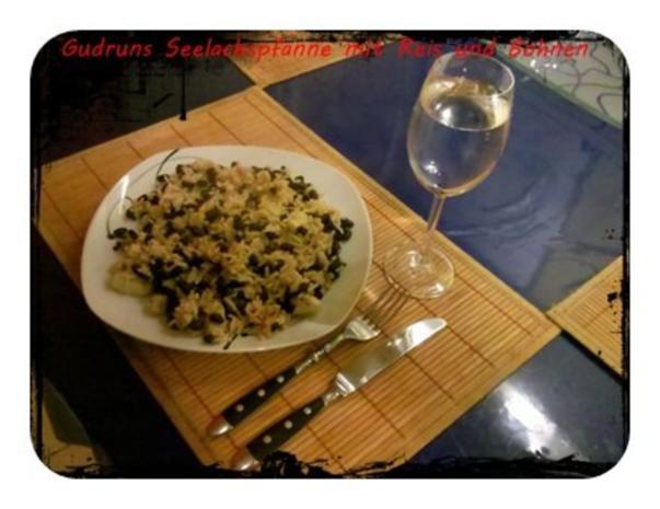 Fisch: Seelachspfanne mit Reis und Bohnen - Rezept - Bild Nr. 10