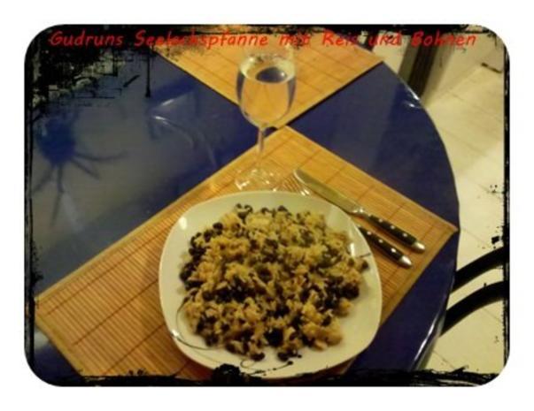 Fisch: Seelachspfanne mit Reis und Bohnen - Rezept - Bild Nr. 11