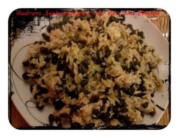 Fisch: Seelachspfanne mit Reis und Bohnen - Rezept - Bild Nr. 12