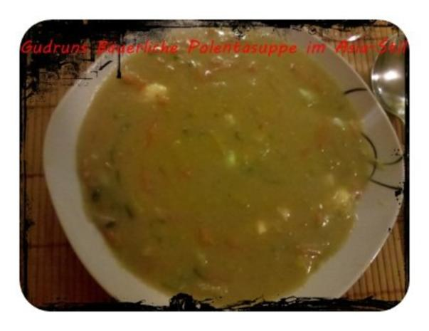 Suppe: Bäuerliche Polentasuppe im Asia-Stil â la Gudrun - Rezept - Bild Nr. 11