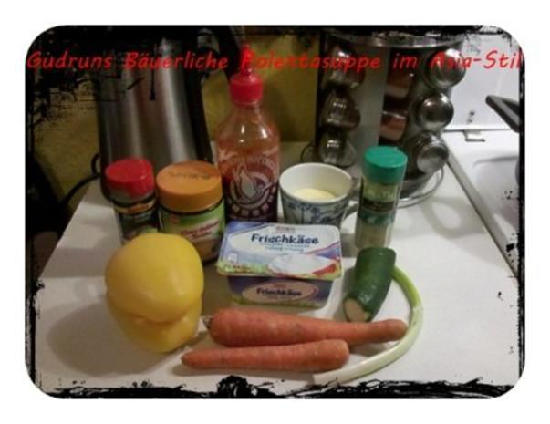 Suppe: Bäuerliche Polentasuppe im Asia-Stil â la Gudrun - Rezept - Bild Nr. 2