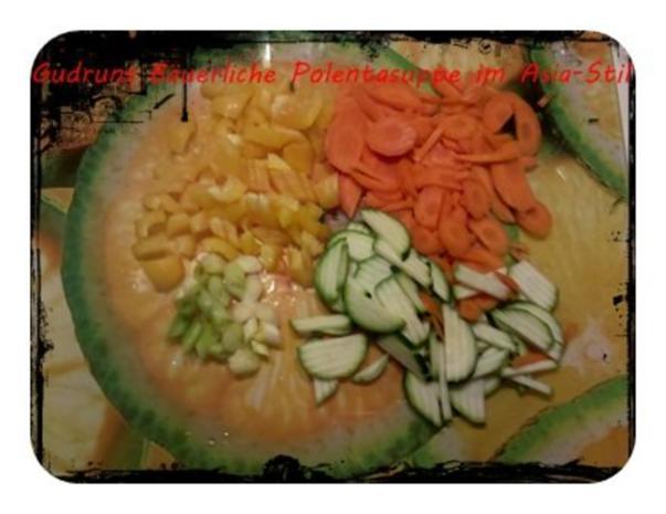 Suppe: Bäuerliche Polentasuppe im Asia-Stil â la Gudrun - Rezept - Bild Nr. 3