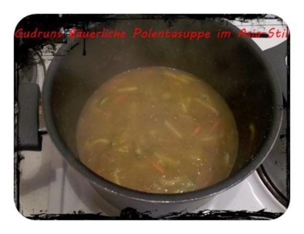 Suppe: Bäuerliche Polentasuppe im Asia-Stil â la Gudrun - Rezept - Bild Nr. 6