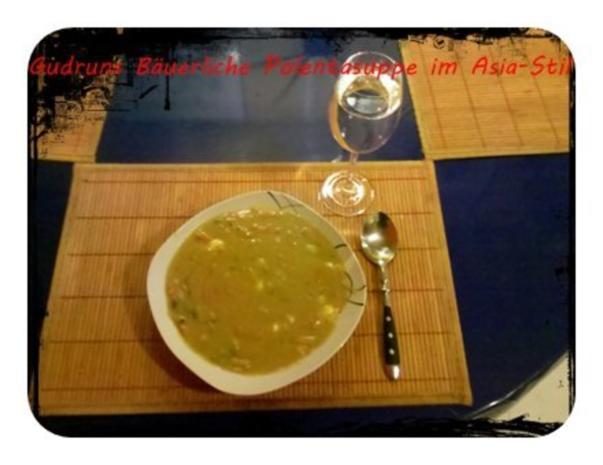 Suppe: Bäuerliche Polentasuppe im Asia-Stil â la Gudrun - Rezept - Bild Nr. 8
