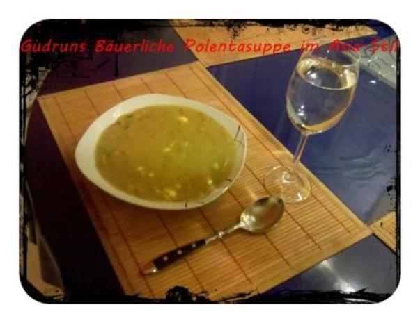 Suppe: Bäuerliche Polentasuppe im Asia-Stil â la Gudrun - Rezept - Bild Nr. 9