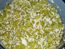 Spitzpaprika (gebraten) mit körnigem Frischkäse - Rezept
