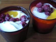 Mango-Himbeer-Baiser-Creme - Rezept