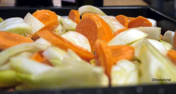 Fenchel und Möhren geröstet mit Parmesanbröseln - Rezept - Bild Nr. 5