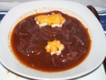 Rote Zwiebelsuppe - Rezept