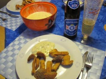 Gebackene Stein- und Herrenpilze mit Sauce Tartare - Rezept