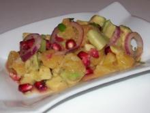 Salat/Vorspeise: Fruchtiger Avocado-Orangen-Salat mit Granatapfel - Rezept