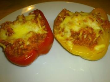 Rezept: gefüllte Paprika - vegetarisch