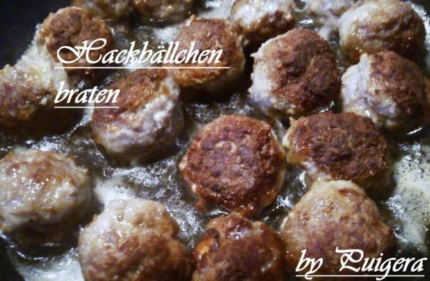 Blumenkohl an Zwiebelhackbällchen und Salzkartoffeln - Rezept - Bild Nr. 4