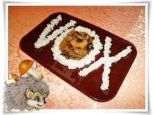 Champignon und Reis mit Fantasie in Form gebracht. - Rezept