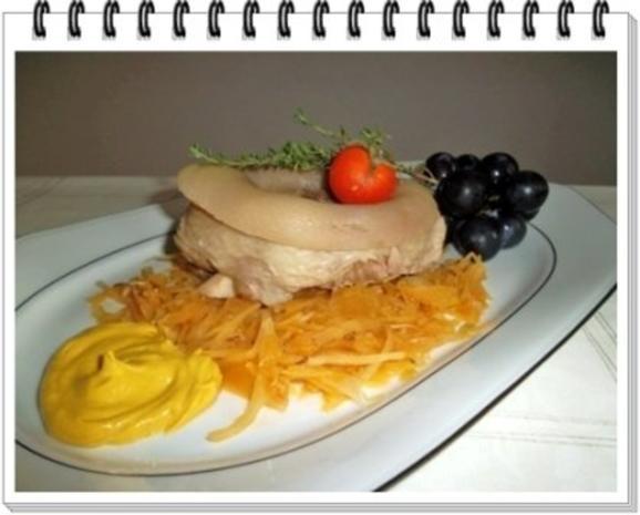 Gekochtes Eisbein mit Sauerkraut  und Weintrauben - Rezept - Bild Nr. 10