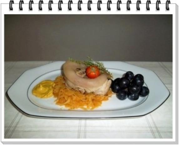 Gekochtes Eisbein mit Sauerkraut  und Weintrauben - Rezept - Bild Nr. 11