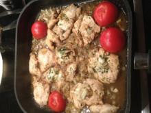 Hähnchenschnitzel mit gerösteten Tomaten und Marsala - Rezept