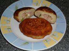 Kartoffelpüree Bratlinge gefüllt mit Thunfisch - Rezept