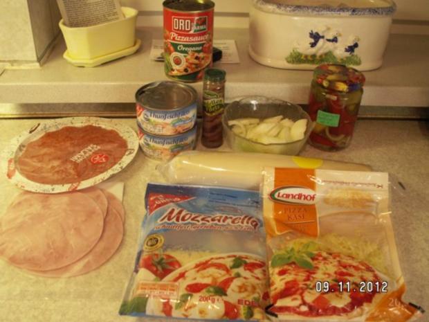 Schnelle Pizza Fifty-Fifty - Rezept - Bild Nr. 2