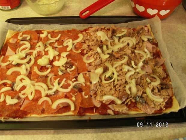 Schnelle Pizza Fifty-Fifty - Rezept - Bild Nr. 8