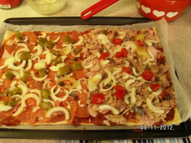 Schnelle Pizza Fifty-Fifty - Rezept - Bild Nr. 9