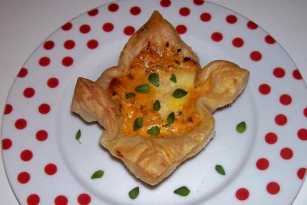 Vorspeise/Abendessen: Blätterteig-Lachs-Törtchen mit Pesto und Tomaten - Rezept - Bild Nr. 12