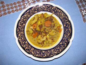 Gemüse: Blumenkohl-Linsen-Curry - Rezept
