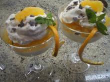 Dessert: Sahnequark mit Grand Marnier-Orangen - Rezept