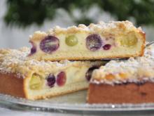 Traubenkuchen mit Butter-Zimt-Streusel - Rezept