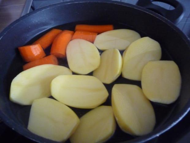 Schwein : Minieisbein auf Mandarinen-Sauerkraut - Rezept - Bild Nr. 5