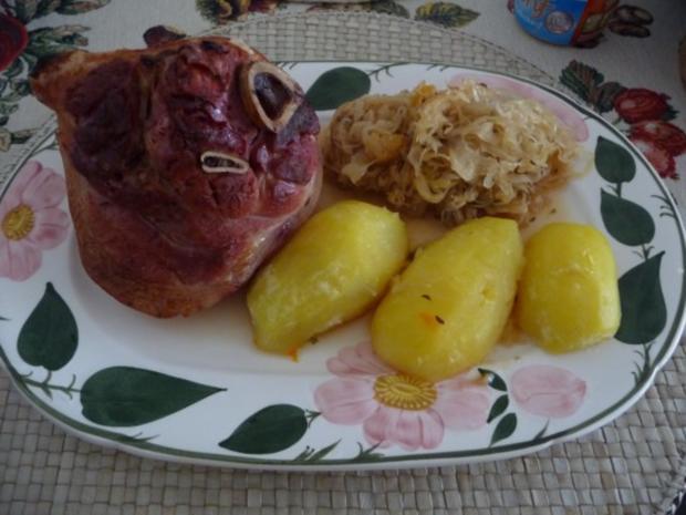 Schwein : Minieisbein auf Mandarinen-Sauerkraut - Rezept - Bild Nr. 6