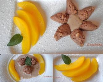Walnuss - Lebkuchen - Mousse an einer Walnuss - Soße und Safranbirnen ... - Rezept