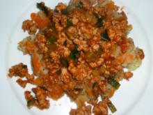 Kartoffel Karotten Stampf mit Tatar - Rezept