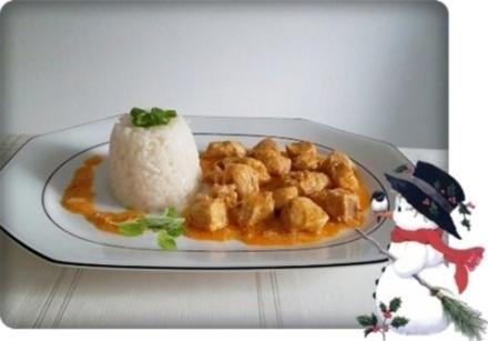Deftiges Putengulasch mit Sushi Reis - Rezept