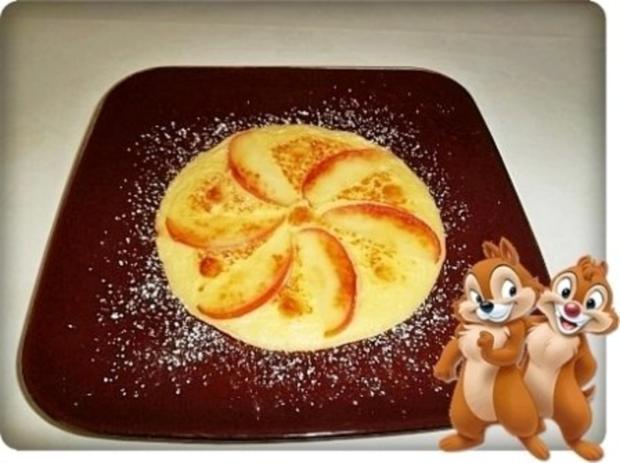 Weihnachtliche  Apfelpfannkuchen - Rezept