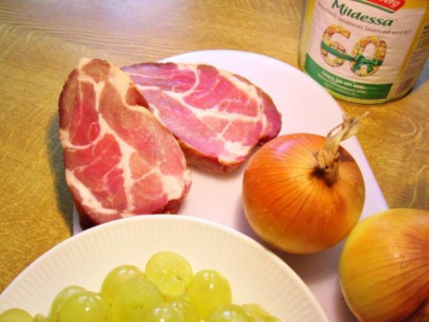 Fruchtiges Sauerkraut mit Kasseler Kotelett ... - Rezept - Bild Nr. 3