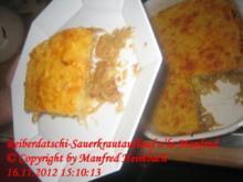 Auflauf – Reiberdatschi-Sauerkrautauflauf a'la Manfred - Rezept