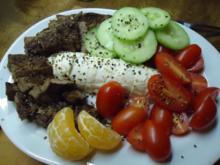 Leichter Salat aus Rinderfilet und Datteltomate an Mozzarella - Rezept