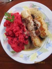 Rote Bete Stampf mit Bratwurst - Rezept