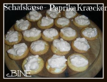 BiNe` S SCHAFSKÆSE - PAPRIKA - KRÆCKER - Rezept