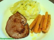 Fleisch:   FLEISCHKÄSE, Babymöhren + Kartoffelbrei - Rezept