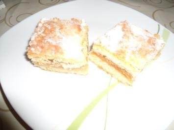 Apfelschnitten im Mürbteigmantel - Rezept