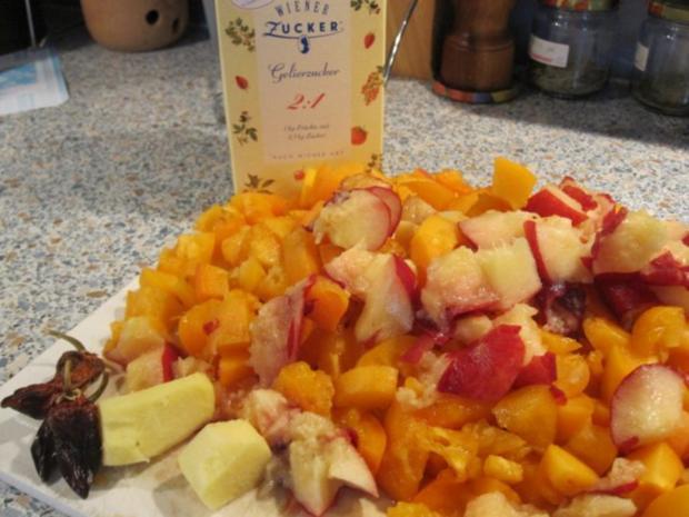 Marillen-Pfirsich-Ingwer-Chili-Marmelade - Rezept