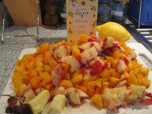 Marillen-Pfirsich-Ingwer-Chili-Marmelade - Rezept - Bild Nr. 2