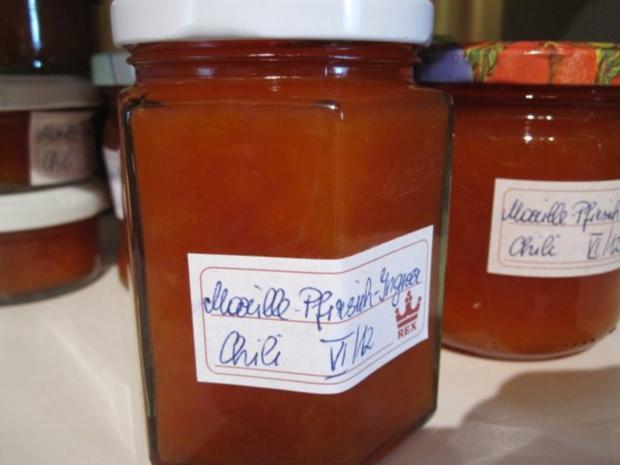 Marillen-Pfirsich-Ingwer-Chili-Marmelade - Rezept - Bild Nr. 4