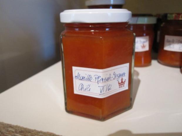Marillen-Pfirsich-Ingwer-Chili-Marmelade - Rezept - Bild Nr. 5