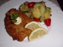 Schnitzel mit Kartoffel-Gurkensalat - Rezept
