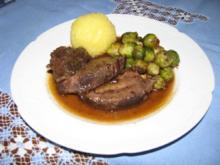 Fleisch: Rinderbäckchen in Glühweinsoße - Rezept