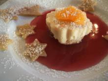 Dessert: Marzipan-Pannacotta an Glühwein-Jus - Rezept